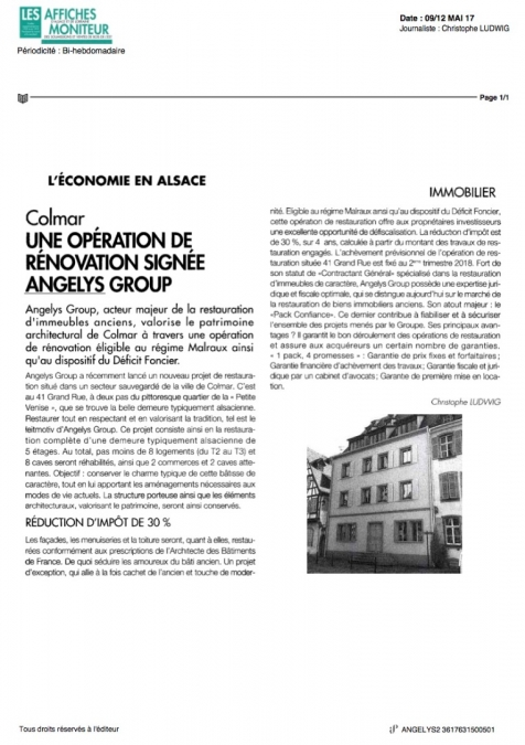 Actualite Angelys group immo